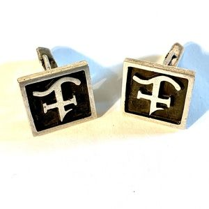 Stephen Austins Cattle Brand F Sterling Cufflinks